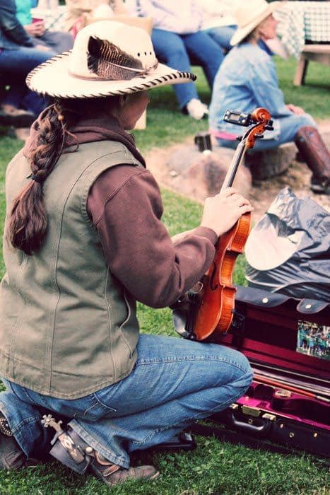 Fiddle Music around the campfire