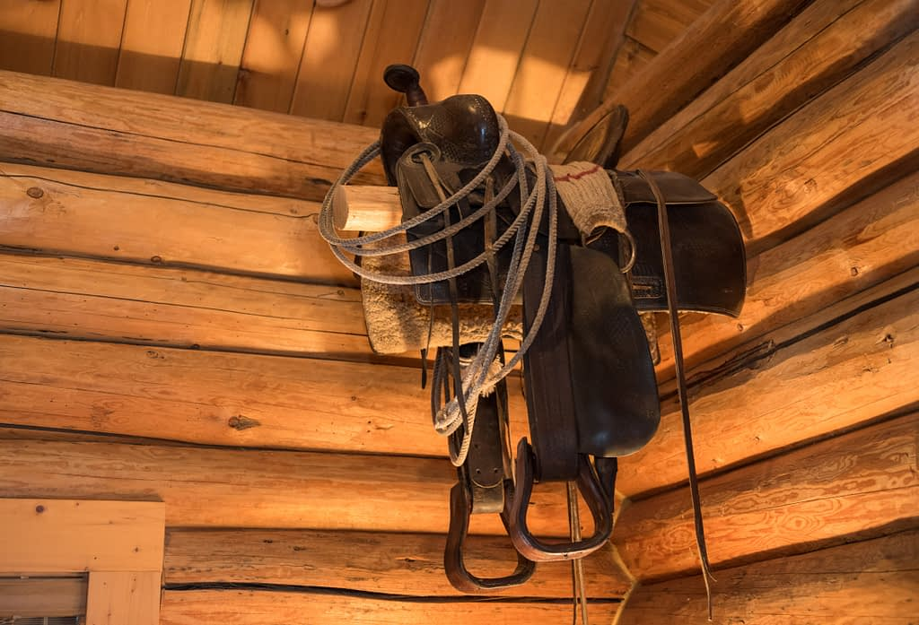 Western Pleasure Guest Ranch Wrangler Cabin Old Saddle