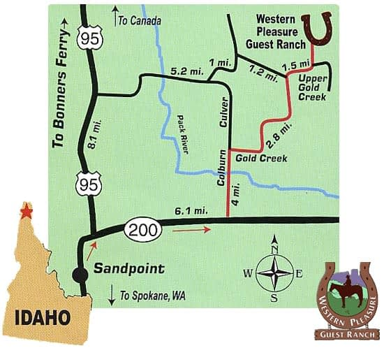 Western Pleasure Guest Ranch Directions Map